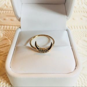 FREE W/BUNDLE! Gold Crescent Moon Ring Size 6